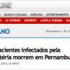 Quatro morrem pela bactéria KPC em Pernambuco