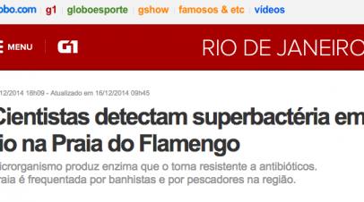 Superbactéria KPC encontrada em praia no Rio de Janeiro